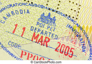 immigration stamp - Cambodian immigration stamp in passport