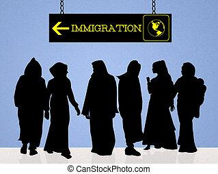 immigration - illustration of immigration