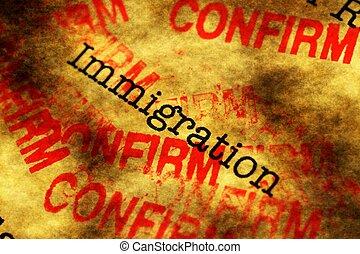 immigrazione, confermare