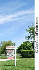 immobilien verkauf, willkommenes zeichen