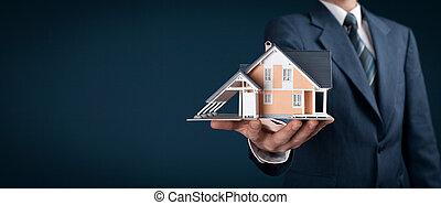 immobilienmakler, echte
