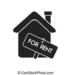 immobiliers, maison, isolé, loyer, maison