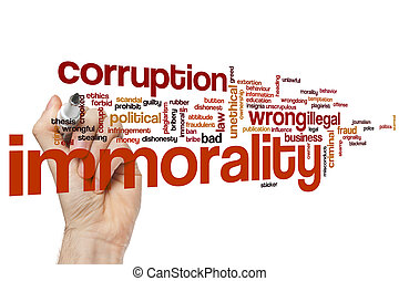 Immorality word cloud