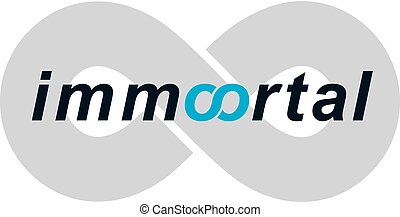Immortal lettering logo isolated on white.