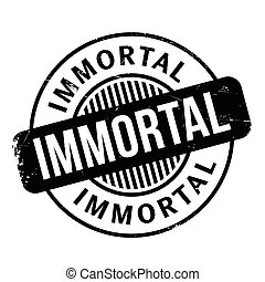 Immortal rubber stamp. Grunge design with dust scratches. ...