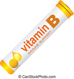 Immune support vitamin B - A classic round pill bottle for ...