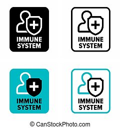 """Immune system"" defense, information sign"
