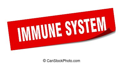 immune system sticker. square isolated label sign. peeler - ...