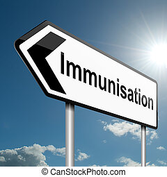 Immunisation concept. - Illustration depicting a road...