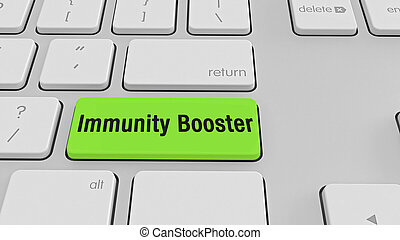Immunity booster keyboard stock photo
