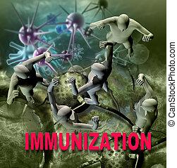 immunity, contra, doenças