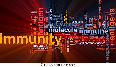 Immunity medical background concept glowing - Background...