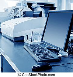 Immunoassay analysis - Hospital laboratory, being...