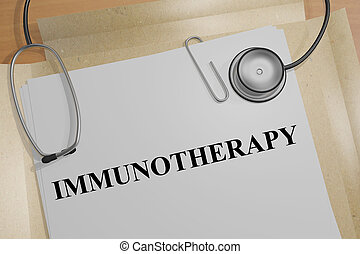 Immunotherapy - medical concept