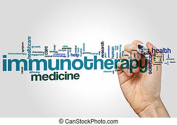 immunotherapy, palabra, nube