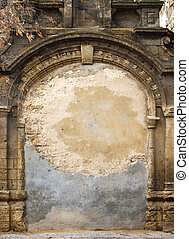 Immured Arch - Ancient immured arch within old shell rock...