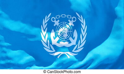 IMO International Maritime Organization flag flies in the ...