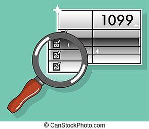 impôt, 1099, formulaire, zoom