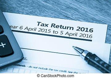 impôt, 2016, retour, formulaire
