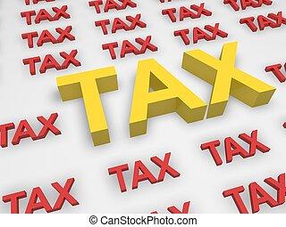 impôt, concept
