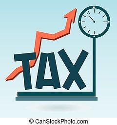 impôt, croissance, balances, taxation.