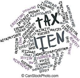 impôt, droit rétention