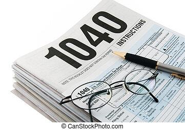 impôt, instructions, formulaire