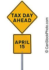 impôt, jour, devant