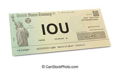 impôt, reconnaissance dette, retour