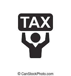 impôt revenu, jour, icône