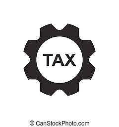 impôt revenu, service, icône