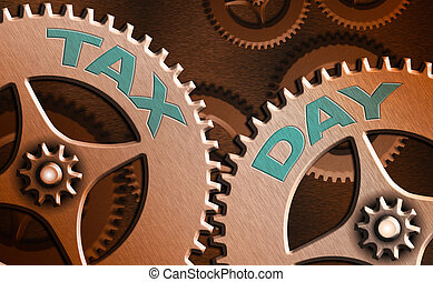 impôt, texte, signe, projection, day., conceptuel, photo, ...