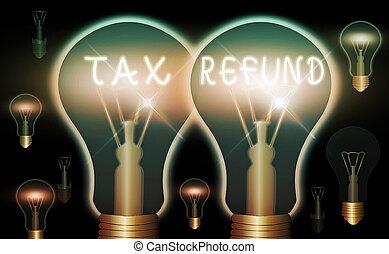 impôts, business, réaliste, ampoules, propriétaires, refund...