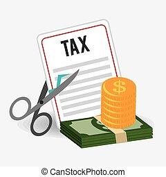 impôts, design.