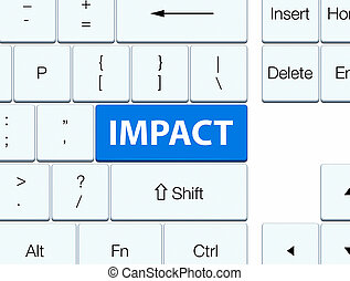 Impact blue keyboard button