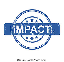 Impact - Business impact stamp with stars isolated on a...