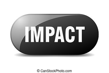 impact button. sticker. banner. rounded glass sign