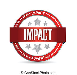 impact, conception, illustration, cachet