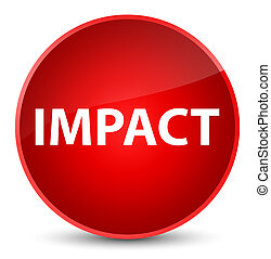 Impact isolated on elegant red round button abstract illustration