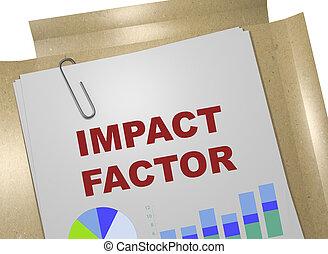 Impact Factor concept - 3D illustration of 'IMPACT FACTOR'...