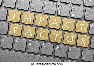 Impact factor key on keyboard - Brown impact factor key on...