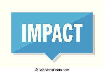 impact price tag - impact blue square price tag