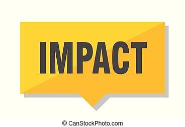 impact price tag - impact yellow square price tag