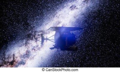impact, profond, mission, sonde, espace