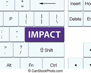 Impact purple keyboard button