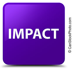 Impact isolated on purple square button abstract illustration