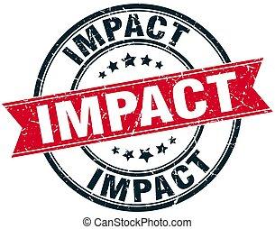 impact round grunge ribbon stamp
