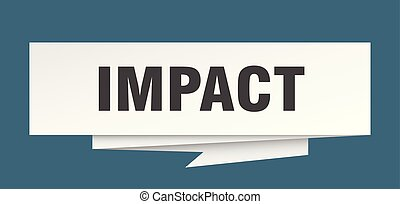 impact sign. impact paper origami speech bubble. impact tag...
