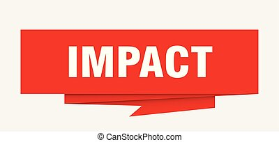 impact sign. impact paper origami speech bubble. impact tag. impact banner