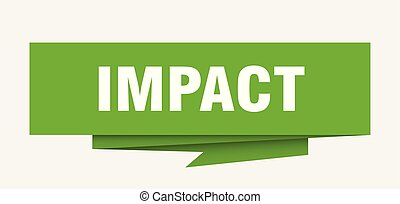 impact sign. impact paper origami speech bubble. impact tag....